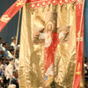 Christian religious procession, religious banner