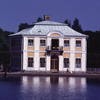 Lodge in the park of Petrodvoretz Palace, neo-classical style, water