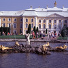 Park, fountains and the Petrodvoretz Palace, neo-classical style