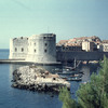 View of Dubrovnik harbour, fortress