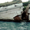 San Andrea Fort, dike broken up by flood in 1966