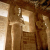 Abu Simbel temple, two giant statues