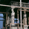 The Cariatides of the Erechtheum on the Acropolis, restoration works, classical