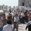 Tourists visiting the Acropolis