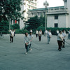 Traditional gymnastics in a street of Beijing, sports activities