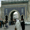 Bab Bou Jeloud, one the entrance gates to the Medina