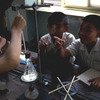 Natural sciences class for primary education pupils, pupils