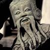 Head of the statue of a mythological figure