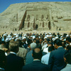 Inauguration in front of the Great Temple of Abu-Simbel. Crowd. , Ramses II, Ph