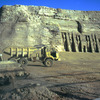 Abu Simbel, small temple, works, truck
