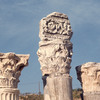 Ruins of a Roman theatre, sculpted capitals, columns