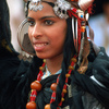 A young dancer during the Moussem of Tan Tan, a festival of nomad tribes