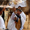 A symbolic releasing of doves at the beginning of the Moussem of Tan Tan, a fes