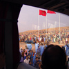 The end of the Moussem of Tan Tan, a festival of nomad tribes. The guests and t