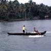 Local boys on the Kerala backwaters