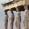 the Acropolis of Athens. The Erectheion. the Caryatids of the Erectheion