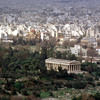 View from the Acropolis. The Hephaisteion.