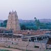 View over the sacred site of Hampi