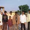 A group of Indian visitors to the temples of Hampi