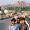 Three young boys at Hampi