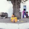 A Sadhu or 'Holy Man' resting near a temple at Hampi
