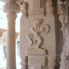 Decorative carving in a temple at Hampi