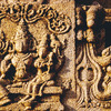 Bas-Relief carvings in the Vitala temple at Hampi