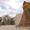 View of the Gugenheim Museum in Bilbao. the Guggenheim Puppy