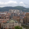 View of the Opera House, Bilbao. the Guggenheim Puppy