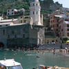 The village of Vernazza (Cinque Terre - World Heritage List). Church Saint Mar