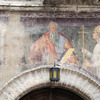 Fresco detail in the old town of Assisi