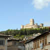 "View of the ""Rocca Maggiore"" from the old town of Assisi"
