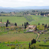 Panoramic view on the countryside from San Gimignano towers