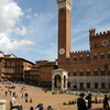 "Piazza ""Il Campo"" with the building of the ""Civico"" Museum. The Palio Race take"
