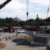 June 2008 : Re-installation of the Aksum Obelisk (known as Stele 2) in its orig