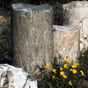 Ruins in the Roman theatre, shattered columns