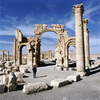 An oasis in the Syrian desert, north-east of Damascus, Palmyra contains the mon