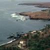 Coastal view of Cidad Velha, coast, ocean, habitat, landscape
