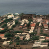 Cidad Velha, general view, habitat, Portuguese ruins, ocean