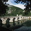 Visegrad bridge over the Drina river