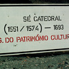 Panel indicating the site of a cathedral, information board, sign