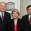 Ms Irina Bokova, Director-General of UNESCO met with UNA/USA, from left, Willia