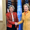 Ms Irina Bokova, Director-General of UNESCO, met with Ms Hilary Clinton, United