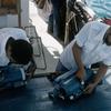 Measuring equipment on the scientific boat, ocean preservation, scientific rese