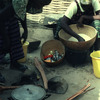 Traditional cooking, rice and fish, , African women
