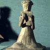 Statuette of musician, Souei period (581-618 A.D.)