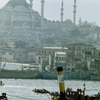 View on the Suleymaniye Mosque from the Bosphorus, minarets, port, boats, port