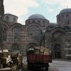 Zeyrek quarter, Pantakrator Church, Byzantine architecture, street, lorry, truc