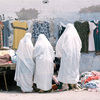 Market day in the Medina, veiled women