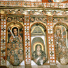 Mural paintings in a church on the site of Lake Tana
